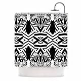KESS InHouse Pom Graphic Design ''Africa'' Black White Shower Curtain, 69 by 70-Inch
