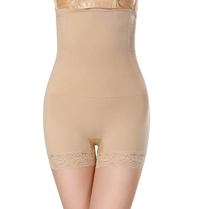e73ec4bd25 LVYING Control Pants Women High Waist Body Shaper Panties Seamless Tummy  Belly Slimming Shapewear Girdle Beige
