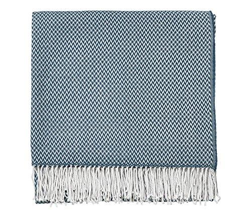Sanderson Home Papier colombes Couverture tissée, 100% Acrylique, Denim, Double Petit