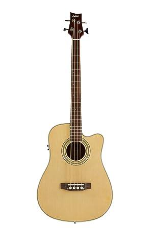 Ashton Electro Acoustic Bass Guitar Natural Amazon Co Uk Musical