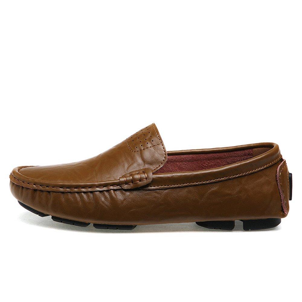 Zgsjbmh Weich und leicht, Casual Einzigartiges Design Sommer Herren Casual leicht, Lederschuhe Breathable Driving Schuhes (Farbe : Khaki, Größe : 40 EU) Khaki defaf6