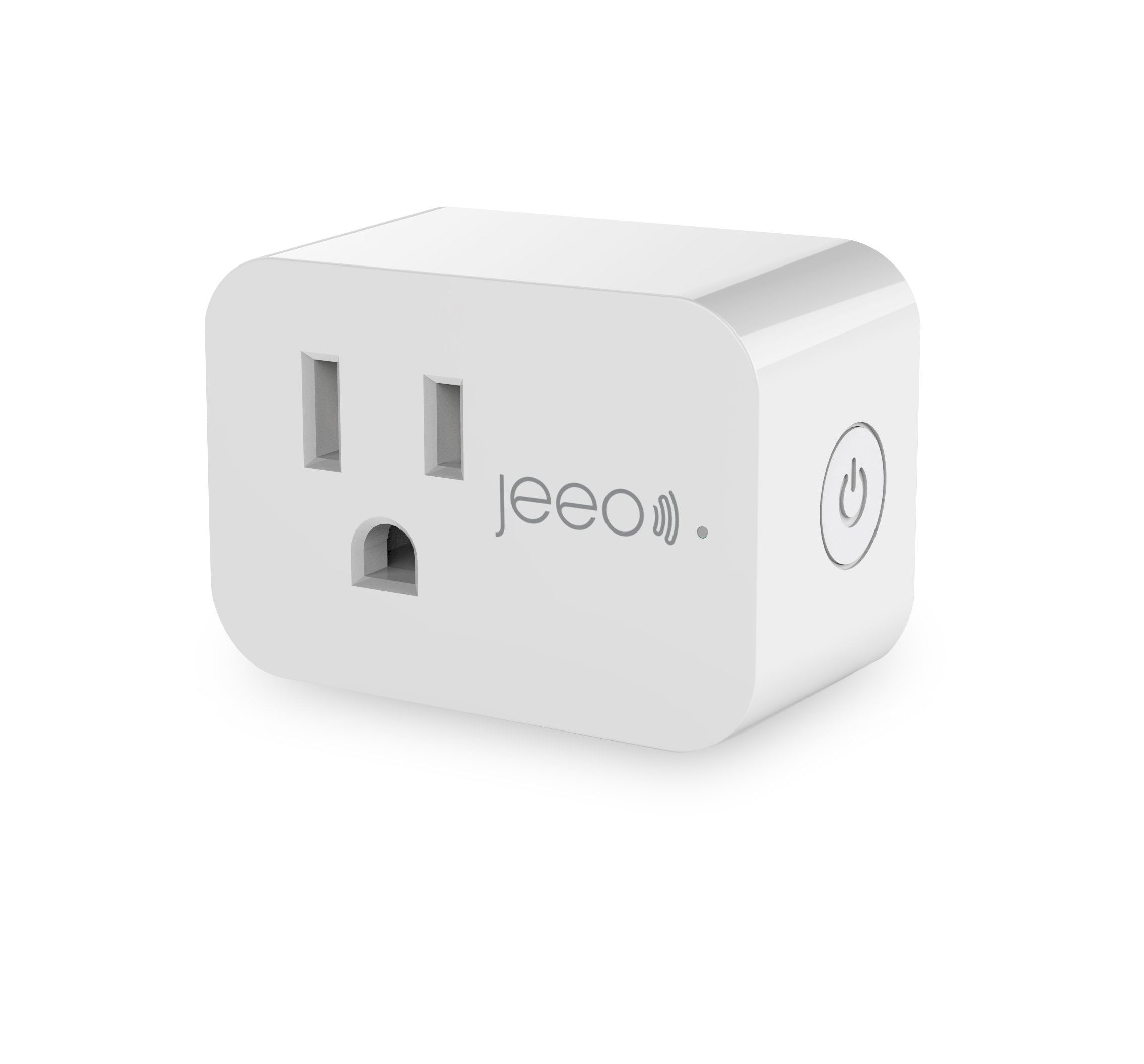 Jeeo Smart Wi-Fi Plug+ Built-in Energy Monitoring, Works with Amazon Alexa and Google Assistant, Jeeo Smart Home App Remote Control