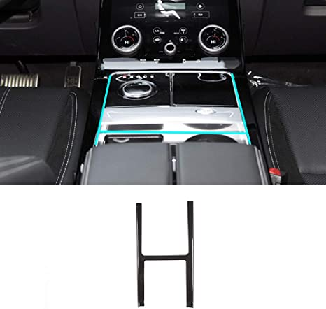 YIWANG Carbon Fiber Style Gear Shift Frame Cover Trim for Land Rover Range Rover Evoque 2012-2019 Auto Accessories