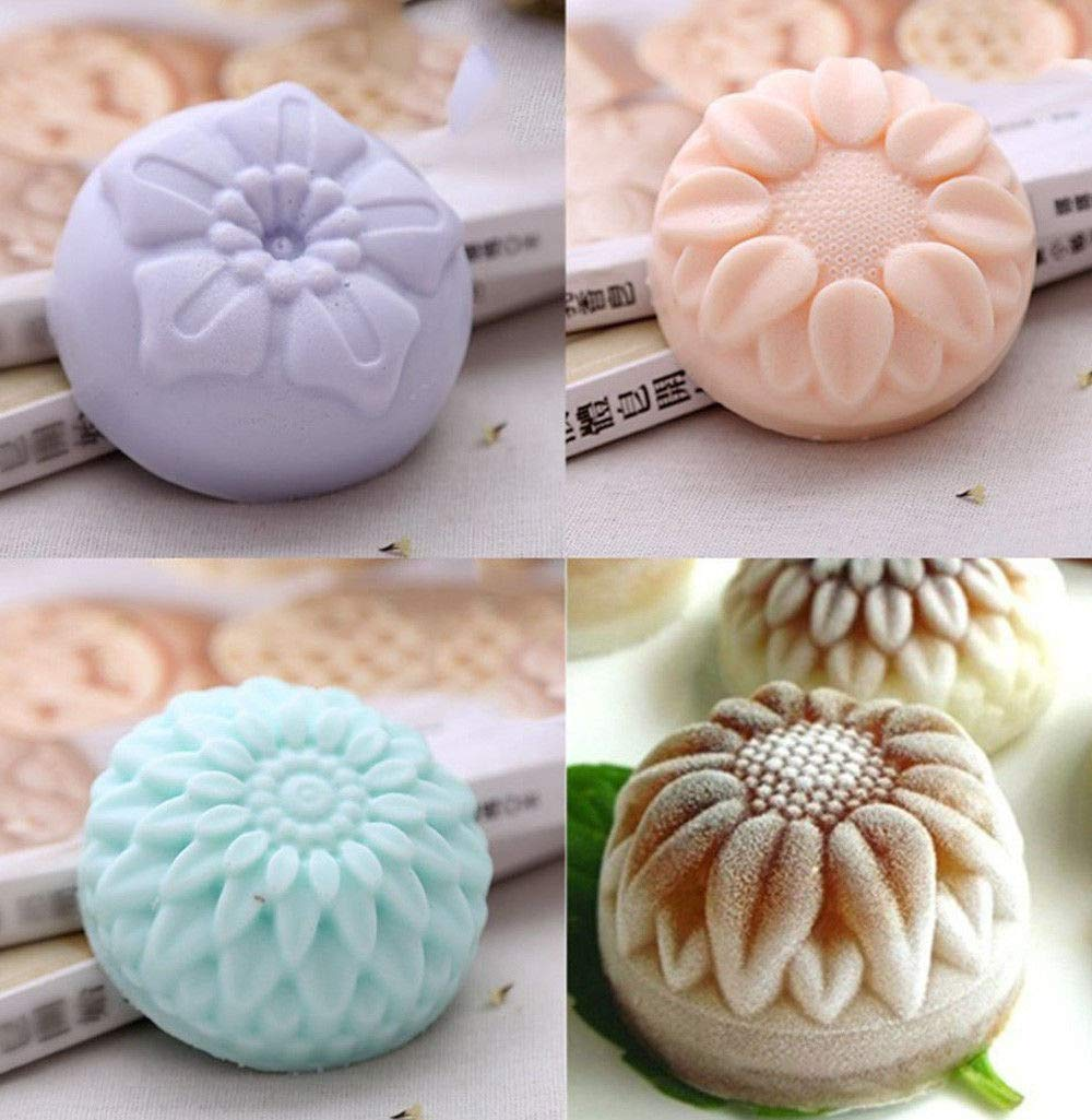 3 Pack Mixed Flower Shaped Silicone DIY Handmade Soap Molds ~ US Seller