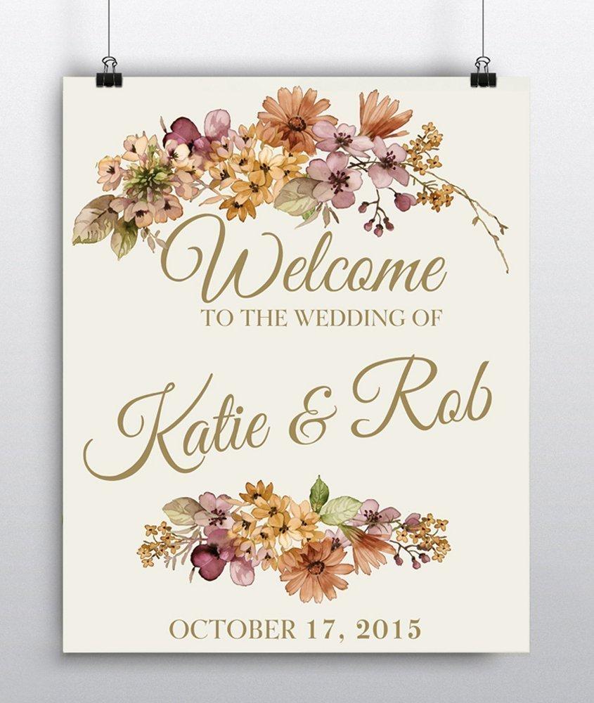 Amazon Personalized Wedding Welcome Sign Wedding Reception