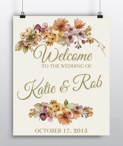 Amazon personalized wedding welcome sign wedding reception personalized wedding welcome sign wedding reception sign custom wedding decoration wedding decor junglespirit Gallery