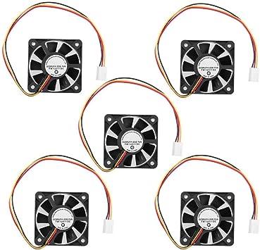 Ventilador de refrigeración de la CPU 3 pines CPU 5 cm Enfriador ...