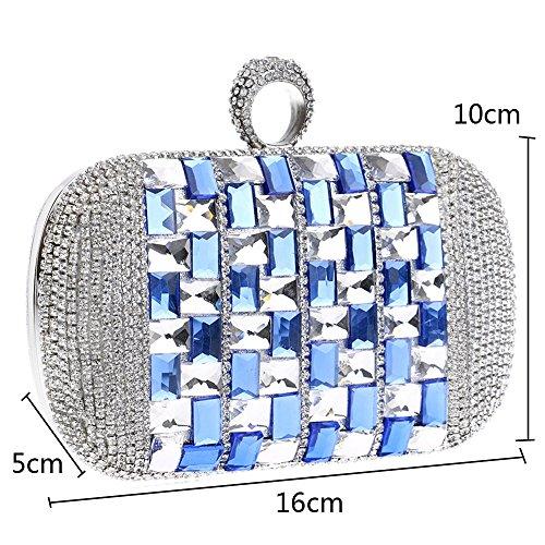 Christmas KYS S a catena Crystal sera Gift borsetta tracolla partito borsa strass donna borsette frizione red moda silver 7qrwp7