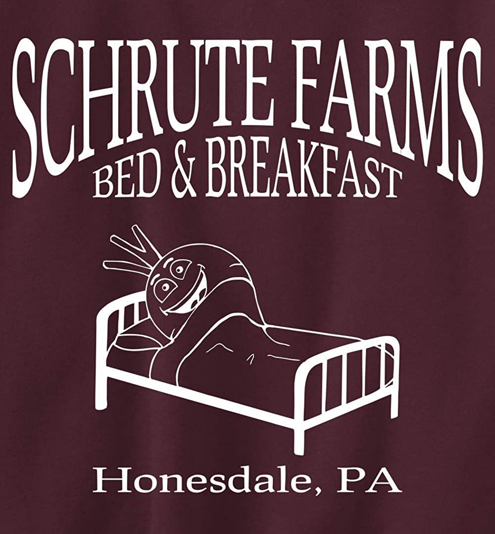 Beetwine Essentials Schrute Farms Bed /& Breakfast Sweatshirt Hoodie Unisex