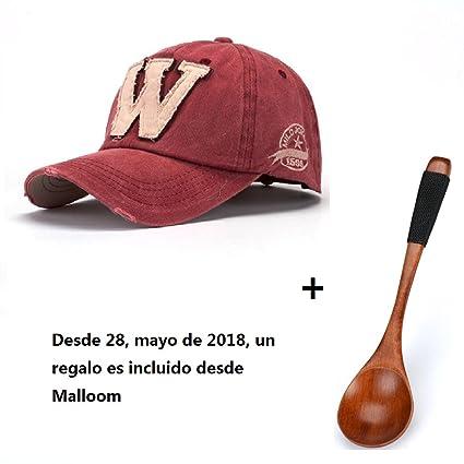 Malloom SnapBack sombreros Unisex verano letra W Hockey béisbol Gorras Hip  Hop gorros (rojo) cf77fb600e6