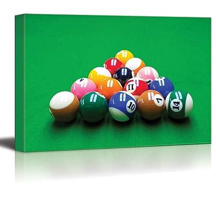 Amazon.com: Canvas Prints Wall Art - Billiard/Pool Balls Close Up ...