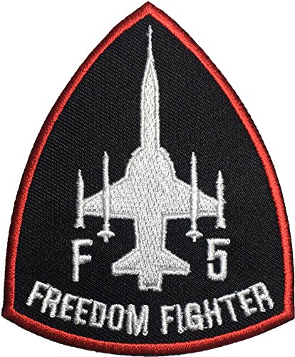 F5 Fighter Freedom (Black/RED) Pilot Military Band Logo Jacket Vest Shirt Hat Blanket Backpack T-Shirt Patches Embroidered Appliques Symbol Badge Cloth Sign Costume Size 3
