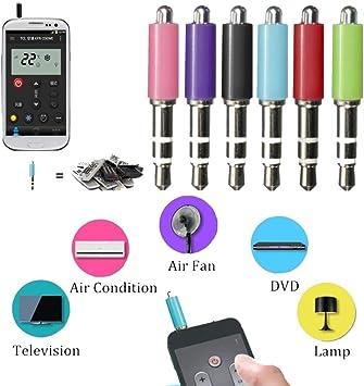 Portátil 3.5mm iOS Teléfono Móvil ZaZa IR Control Remoto para Aire Acondicionado TV Proyector DVD: Amazon.es: Electrónica