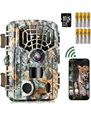 WiFi Bluetooth Trail Camera 48MP 4K, Game Hunting Cameras with Night Vision Motion Activated Waterproof IP66 for Outdoor Wildlife Monitoring, 940nm No Glow and, 32GB SD Card Included