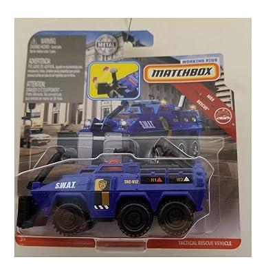MBX Matchbox Rescue Blue Tactical Rescue Vehicle DIE-CAST: Toys & Games