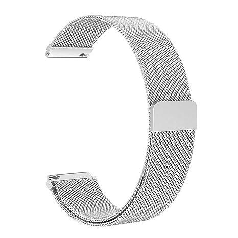 TianranRT Milanese Lazo magnético Acero Inoxidable Acero Pulsera Banda para Samsung Galaxy Reloj 42 mm: Amazon.es: Bricolaje y herramientas