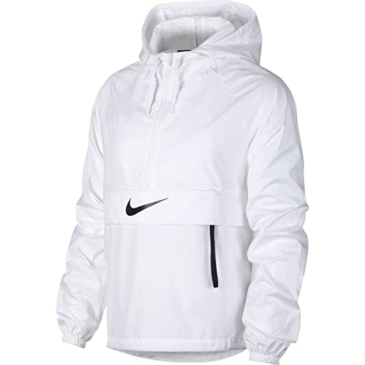 Nike Womens Packable Swoosh Jacket White Black AT7823-100 Size X-Small at  Amazon Women s Clothing store  f996b450f