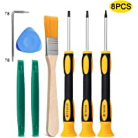 8 in 1 Game Controller Tool Repair T6 T8 T10 Screwdriver Set for Xbox 360, Xbox One Controller and Console, PS3, and PS4…