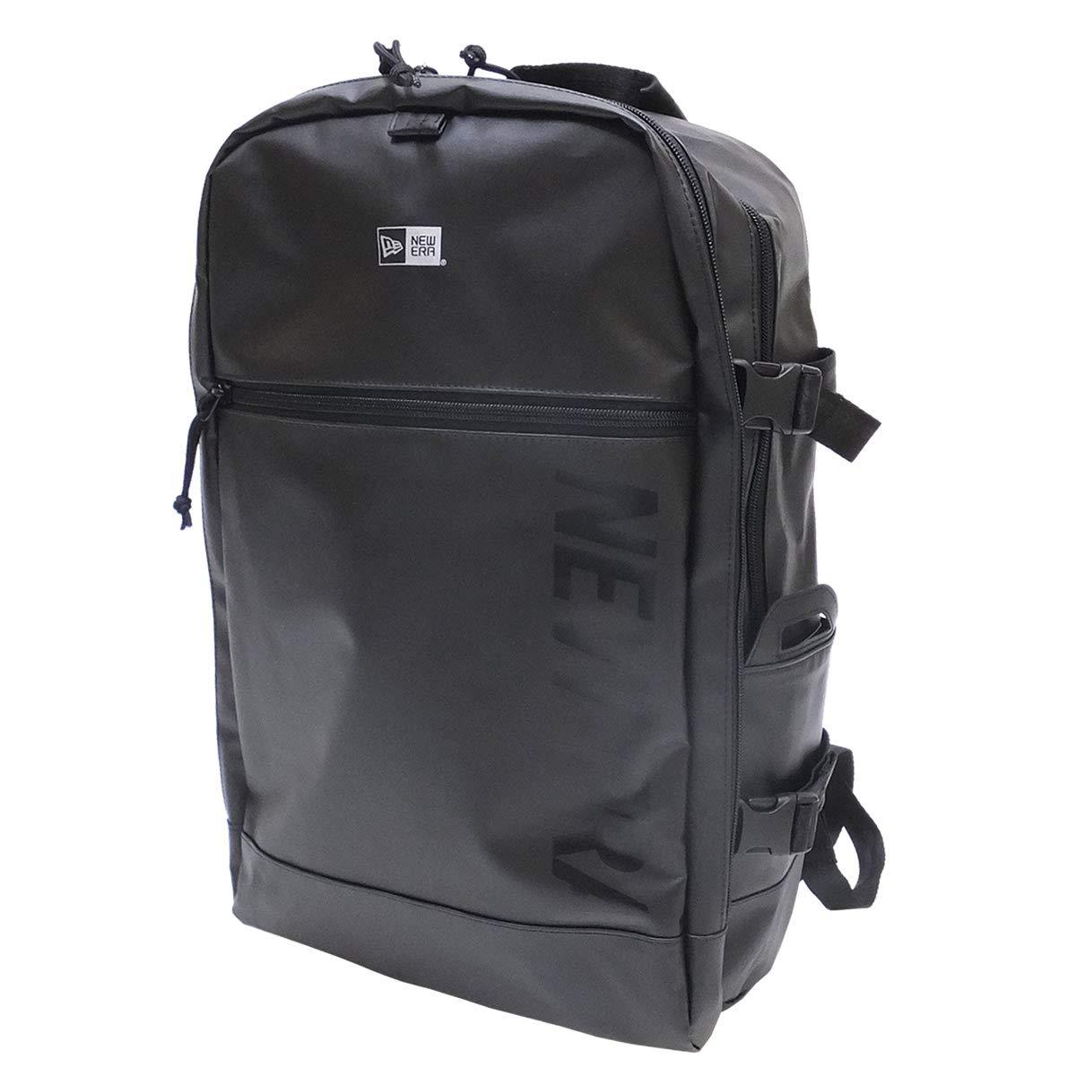 [New Era(ニューエラ)] リュック バックパック 大容量 スマートパック プリントロゴ ターポリン×ブラック 11901925   B07QMVQ2T2