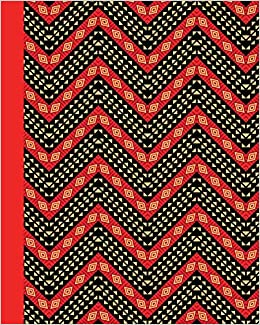 Amazon com: Sketch Journal: African Pattern (Red) 8x10