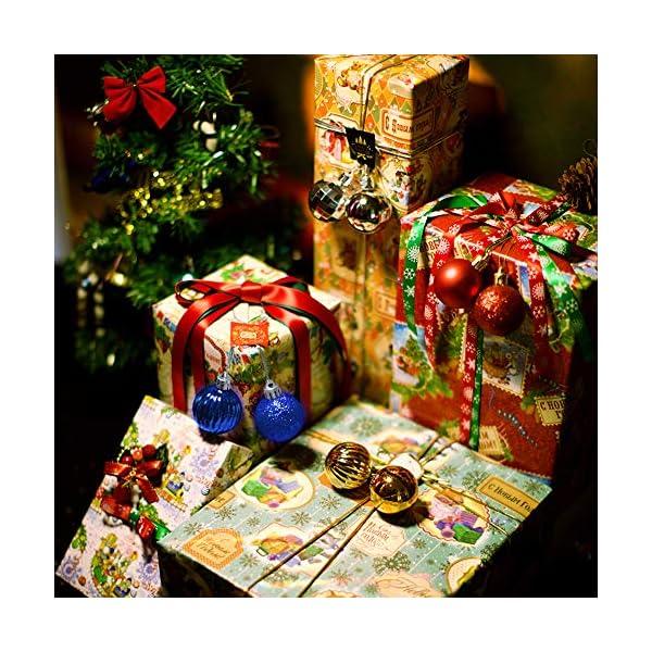 Speyang Palle di Natale 4cm, Palline Dell'Albero di Natale, Addobbi Natalizi Palline per Albero, Set Palla di Natale, Albero di Natale Palla Decorazioni con Albero Natale Scintillante—36 Pezzi (Blu) 4 spesavip
