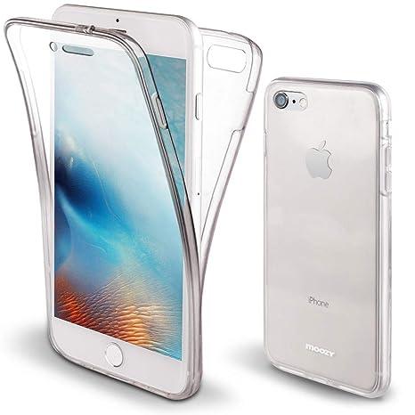 Moozy Funda 360 Grados para iPhone 6S, iPhone 6 Transparente Silicona - Full Body Case Carcasa Protectora Cuerpo Completo