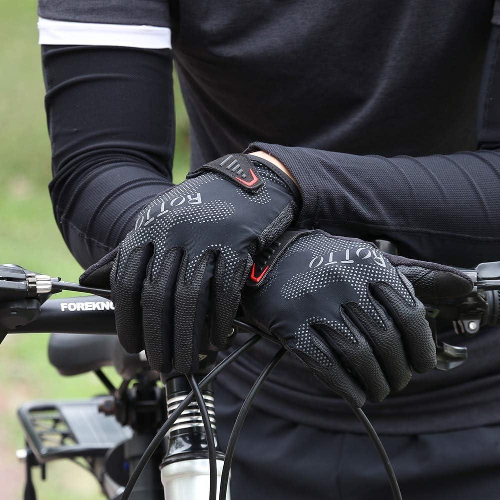 ROTTO Guantes Ciclismo Guantes Bicicleta Medio Completo Dedo Guantes MTB para Hombre Mujer con Gel y SBR Acolchado