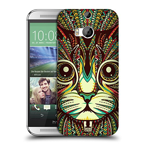 Head Case Designs Kitten Aztec Animal Faces 2 Hard Back Case for HTC One M8 / M8 Dual Sim