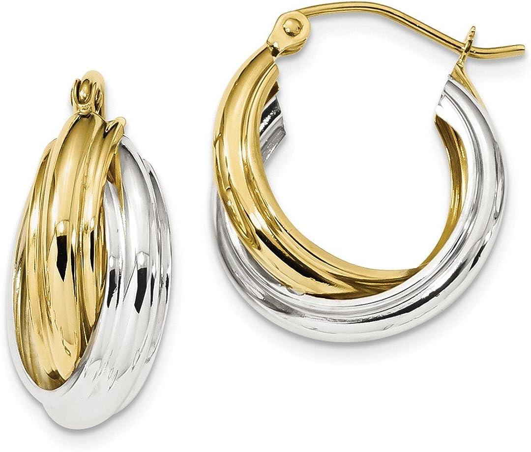 Cross Over Double Loop Gold Earrings Hoop Earrings Estate 10k Yellow Gold Round Double Loop Diamond Cut Hoops Earrings Design Double Loop