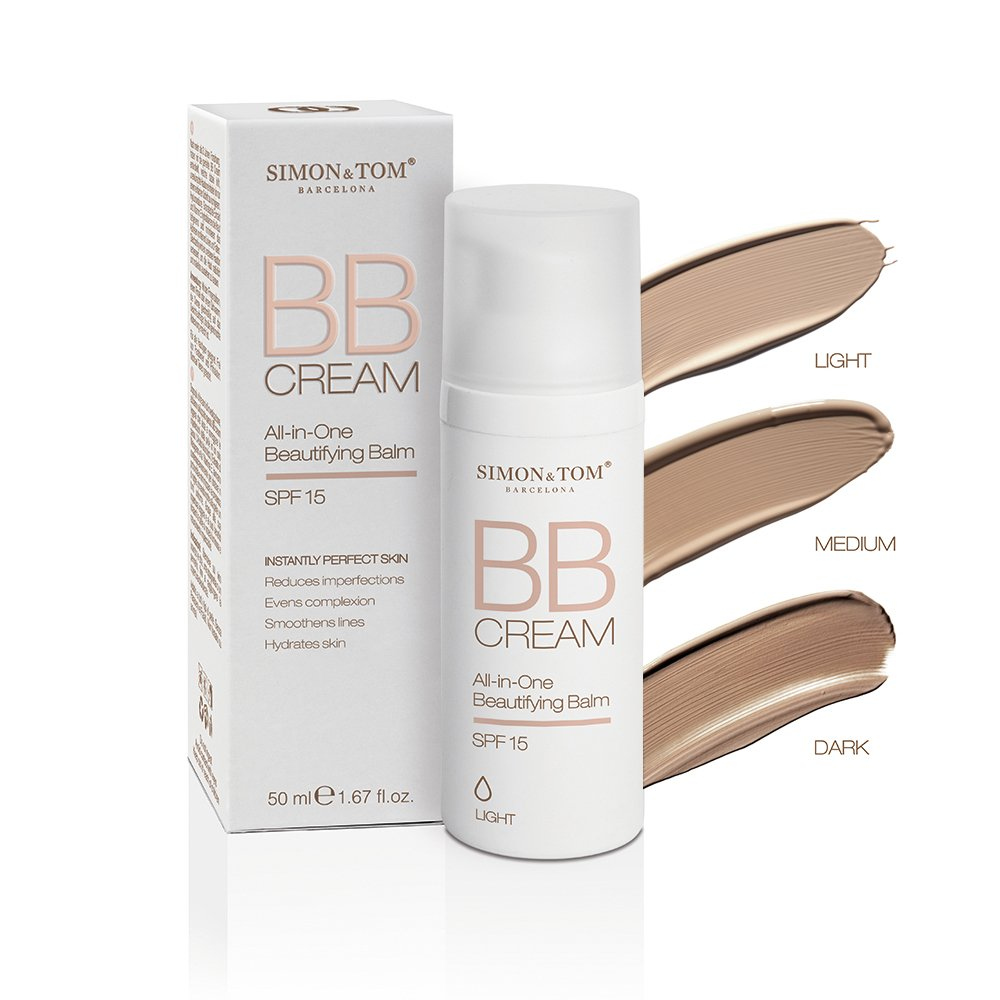 Simon & Tom All-in-One Beautifying Balm with SPF 15 Hydrating & Anti-Imperfection BB Cream (Dark) 50 ml. / 1.67 fl.oz.