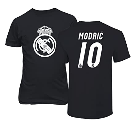 Real Madrid Luka Modric  10 Jersey Shirt Soccer Football Men s T Shirt  (Black dec872fa4