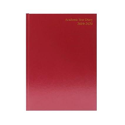 Agenda escolar A4 día por página 2019-20 borgoña: Amazon.es ...