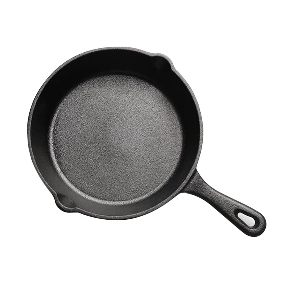 D DOLITY Cast Iron Egg Pancake Pan Frying Pot Electric Stove Gas Hobs Kitchen Camping - 14cm