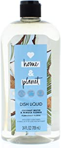 Love Home and Planet Coconut Water & Mimosa Flower Flawlessly Floral Dish Soap 24 Fl. Oz