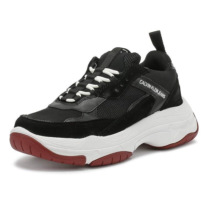 Calvin Klein Jeans Uomo Nero Marvin Chunky Sneaker UK 6