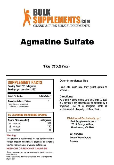 BulkSupplements Agmatine Sulfate Powder (100 Grams)