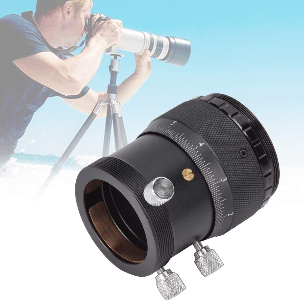1.25 Inch Helical Focuser Aluminium Alloy External T Mount 10mm Focusing Stroke Helical Fine Tuning Focuser for Astrophotography