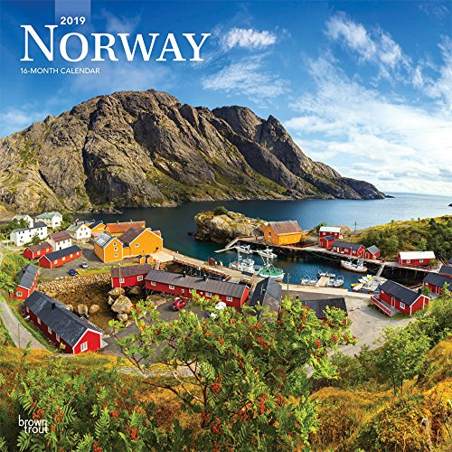 Norway 2019 12 x 12 Inch Monthly Square Wall Calendar, Travel Europe Scandinavian (English, French and Spanish Edition)