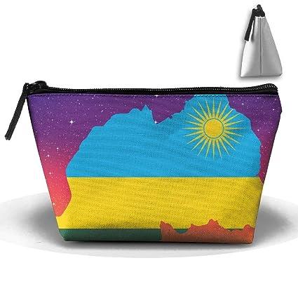 Mapa Bandera de Ruanda Maquillaje portátil Recibir Bolsa ...