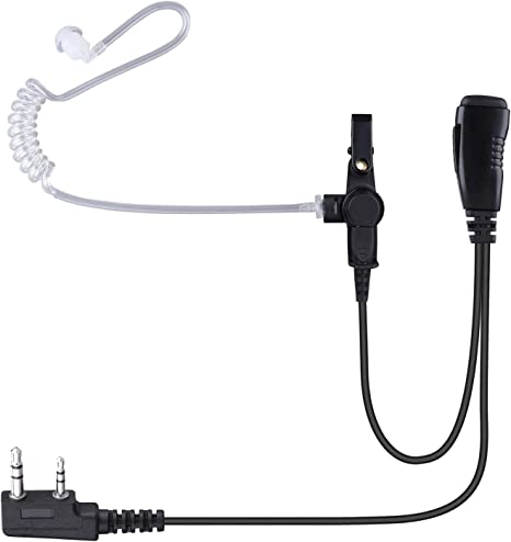 G-Hook Adjustable Radio Earpiece PTT Mic for Kenwood TK-3402UK TK-2360
