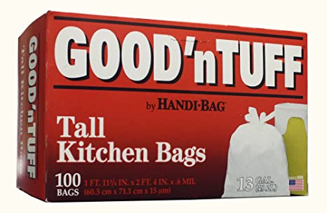 good n tuff flap tie tall kitchen bags by aep industries inc 13 rh amazon com tall kitchen garbage bags size Kitchen Garbage Bag Sizes