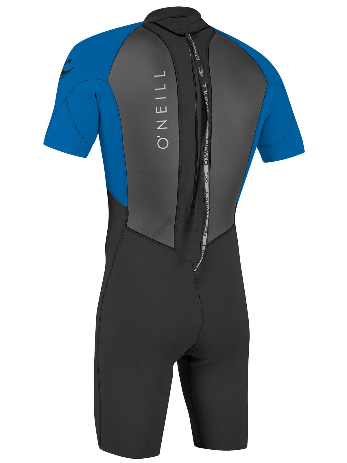 O'Neill Youth Reactor-2 2mm Back Zip Short Sleeve Spring Wetsuit, Black/Ocean, 4 by O'Neill Wetsuits (Image #3)