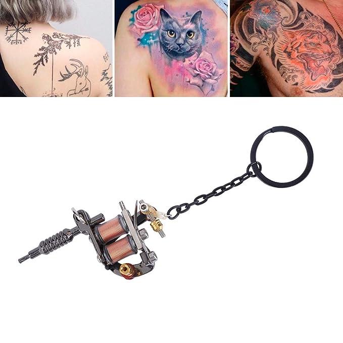 5 tipos de máquina de tatuaje, llavero, mini máquina de tatuaje ...