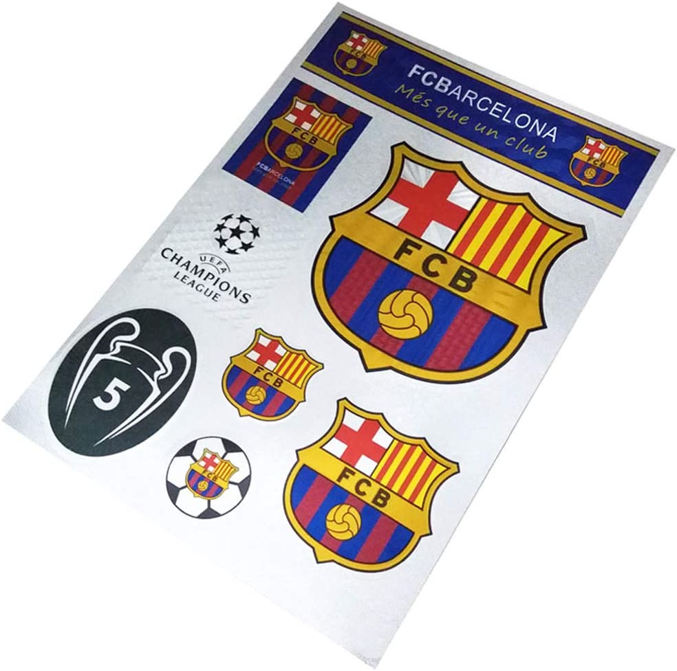 Louishop Football Club Stickers Laptop Stickers for Car Motorcycle Bicycle Luggage Graffiti Patches Skateboard Wall Decals (Barcelona)
