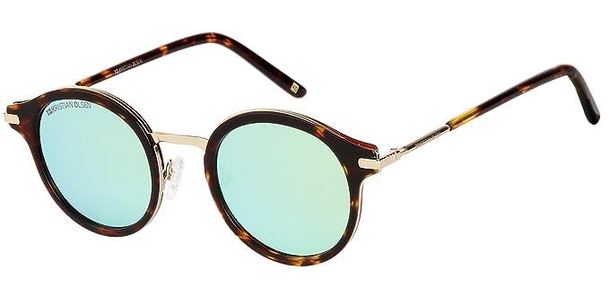 Gafas de Sol redondas, Alta Calidad Made in Denmark Handmade. Calidad óptica. Modelo Sahara Blue.: Amazon.es: Ropa y accesorios