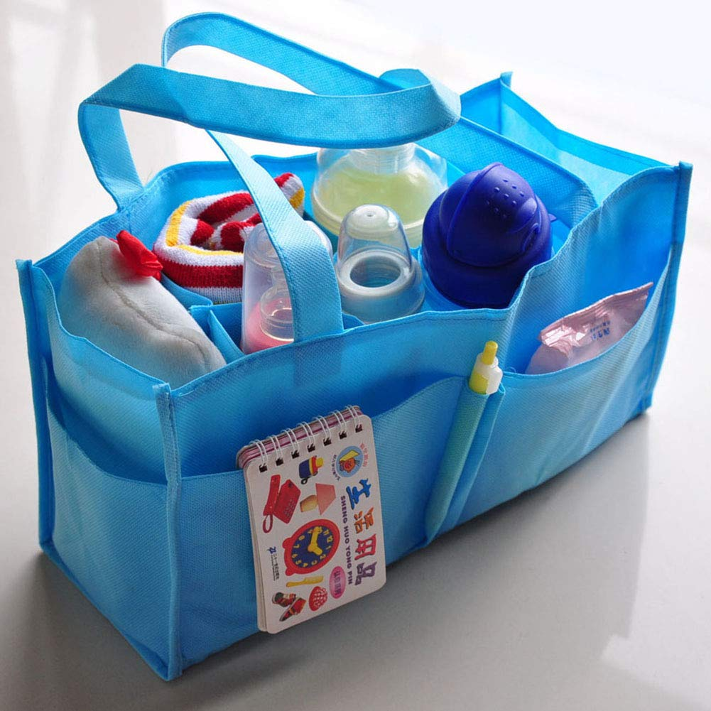 Mioloe Diaper Caddy Organizer Portable Diaper Holder Bag For Changing Table And Car Nursery Storage Basket For All Baby Essentials