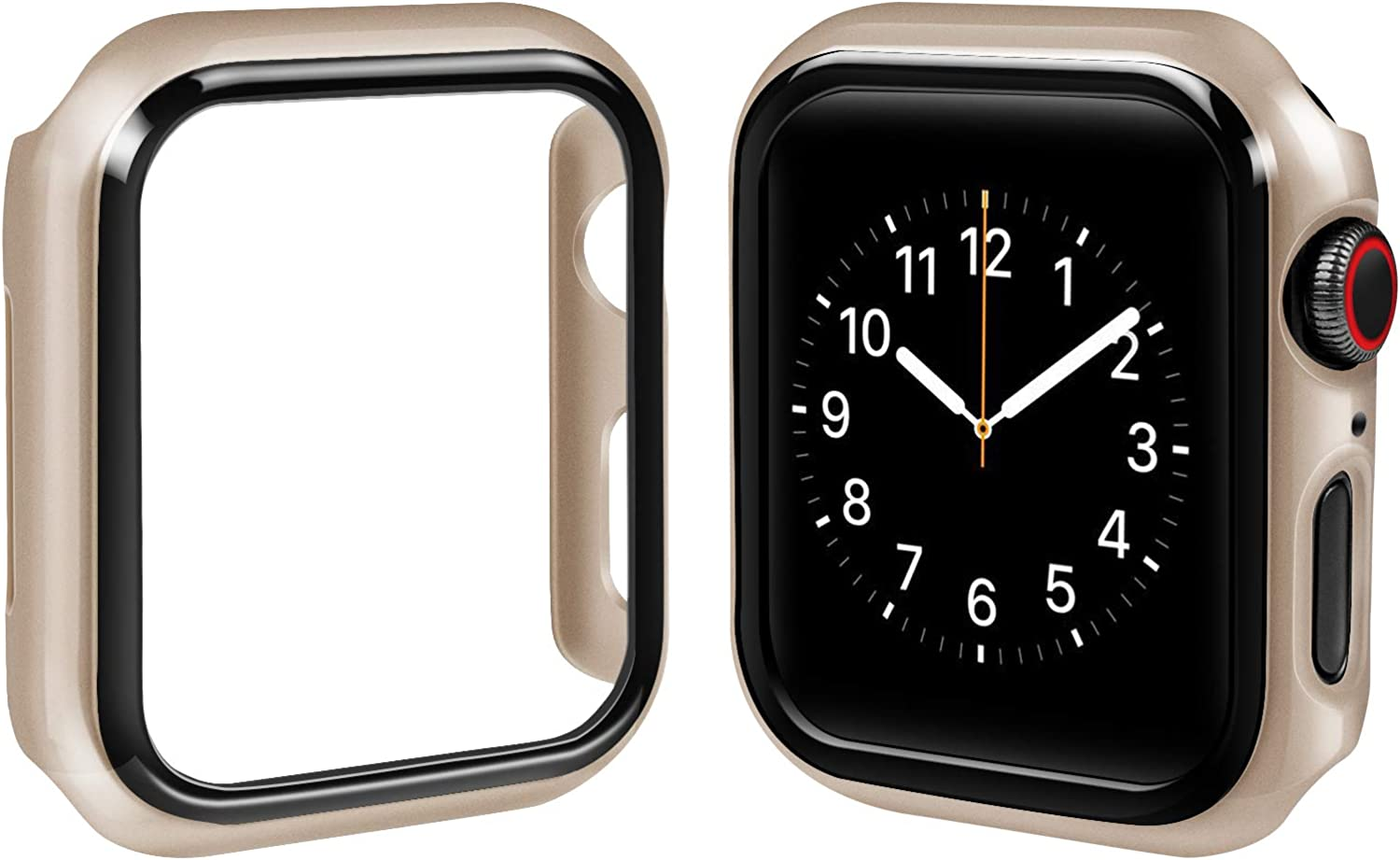top4cus PC 44mm Case Compatible with Apple Watch Slim Lightweight Electroplated Protective Iwatch Case Protector Bumper, for Series SE Series 6 Series 5 Series 4 (Gold, 44mm)