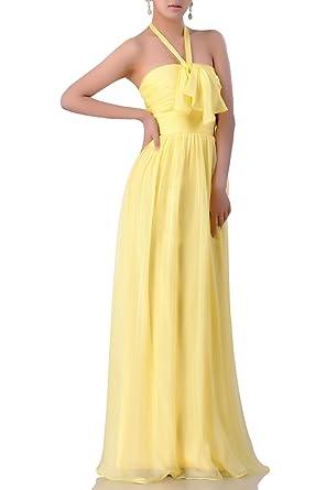 629bd0a998b4 Adorona Women's Chiffon Halter Floor Length A Line Dress at Amazon Women's  Clothing store: Long Dress