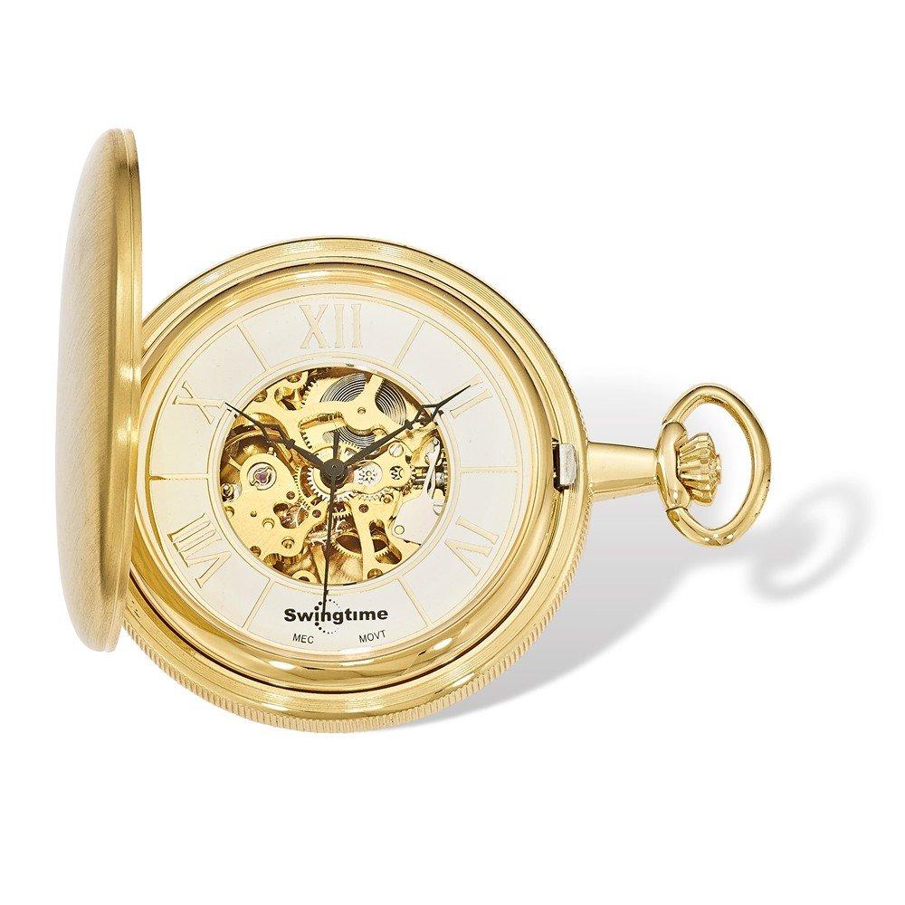 Swingtime Engravable Goldtone Brass Mechanical Pocket Watch by Swingtime (Image #3)