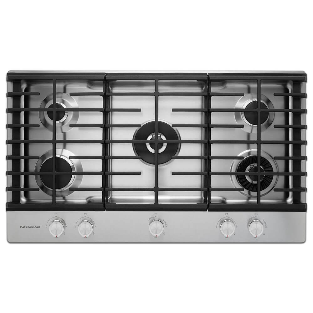 Kitchen Aid KCGS556ESS KCGS556ESS 36 Stainless 5 Burner Gas Cooktop